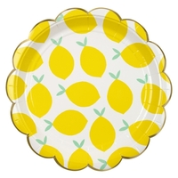 8 assiettes citron