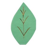16 serviettes papier feuille verte
