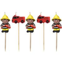 5 bougies anniversaire pompier