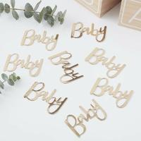 Confettis baby doré