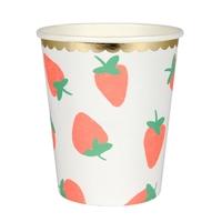 8 gobelets fraise