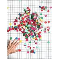 Confetti papier de soie multicolore