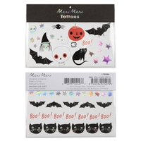 2 planches assortiment de tatouages Halloween