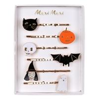 6 barrettes à cheveux Halloween en émail