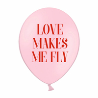 6 ballons rose Love makes me fly