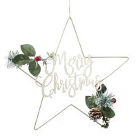 Couronne de Noël étoile