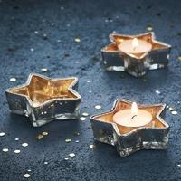 Bougeoir chauffe-plat étoile dorée