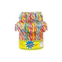 5 sucres d'orge multicolores