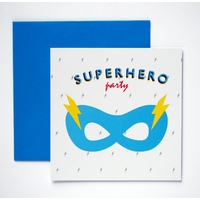 8 cartes d'invitation anniversaire super-héros