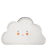 8 assiettes nuage