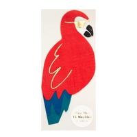 16 serviettes perroquet