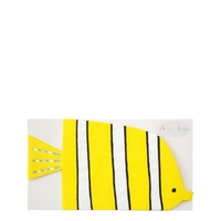16 serviettes poisson jaune