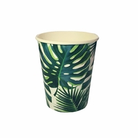 8 gobelets feuilles tropicales