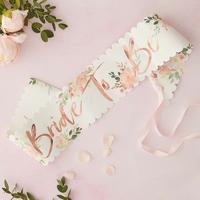 Echarpe bride to be fleurie