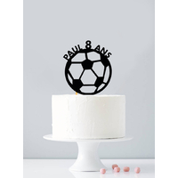 Cake topper personnalisé ballon de foot