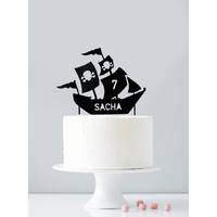 Cake topper personnalisé pirate