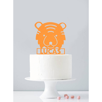 Cake topper personnalisé tigre