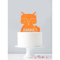 Cake topper personnalisé renard