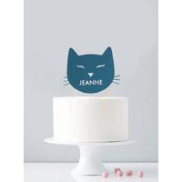 Cake topper personnalisé chat