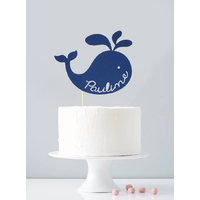 Cake topper personnalisé baleine