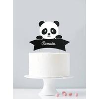 Cake topper personnalisé panda