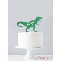 Cake topper personnalisé dinosaure