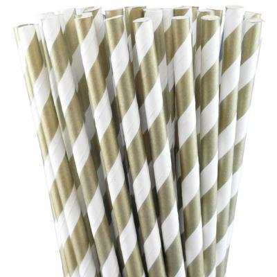 pailles-retro-papier-rayures-doré