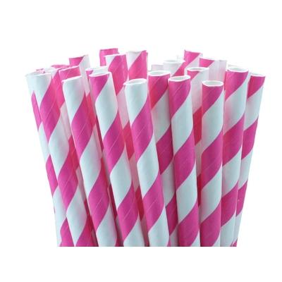 pailles-retro-papier-rayures-fuchsia