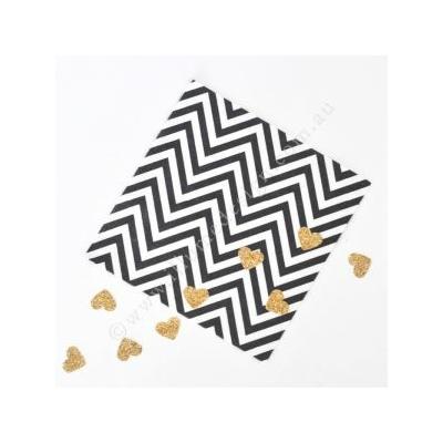 serviette-papier-chevron-noir