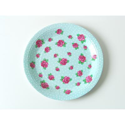 assiette-carton-fleurs-vintage