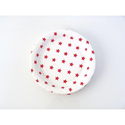 assiette-jetable-carton-etoiles-rouge