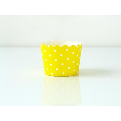 caissette-cupcake-rigide-jaune-pois