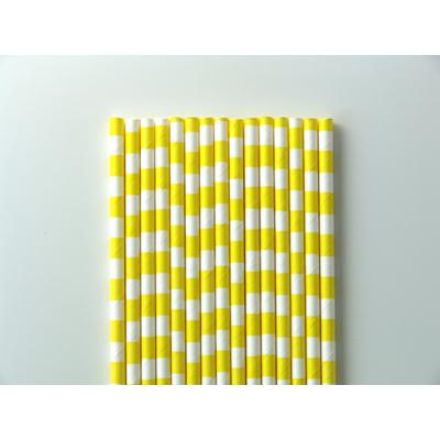 paille-papier-raye-jaune