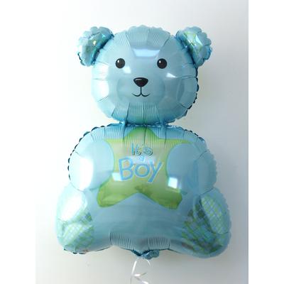 ballon-ourson-baby-shower-bleu