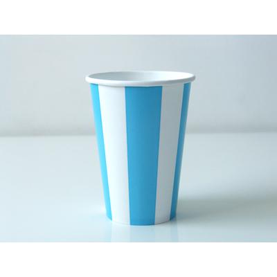 gobelet-jetable-raye-bleu-clair