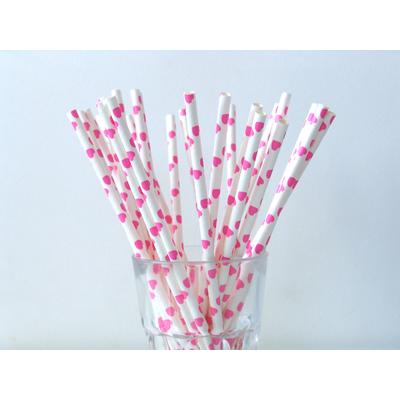 paille-papier-coeur-rose-fuchsia