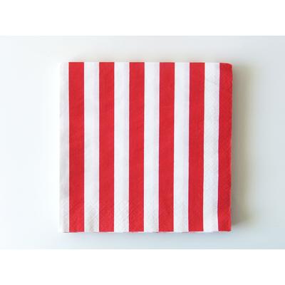 serviette-papier-jetable-raye-rouge