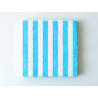 serviette-en-papier-rayure-bleu