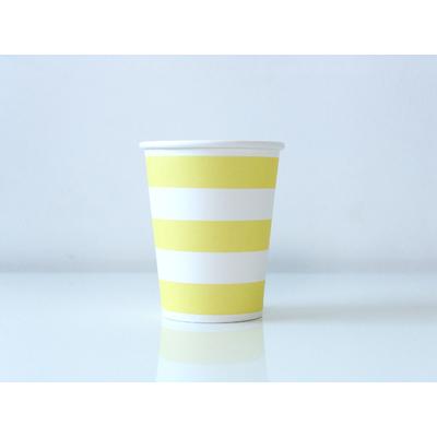 gobelet-jetable-raye-jaune