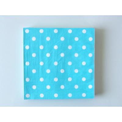 serviette-en-papier-bleu-pois