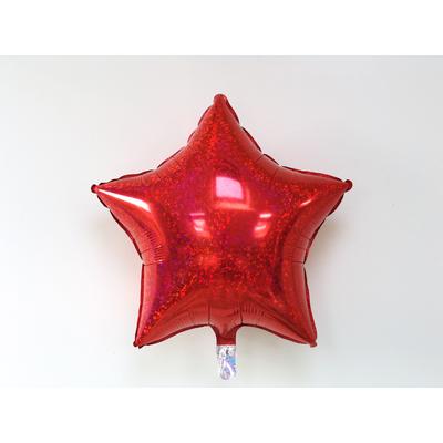 ballon-etoile-holographique-rouge