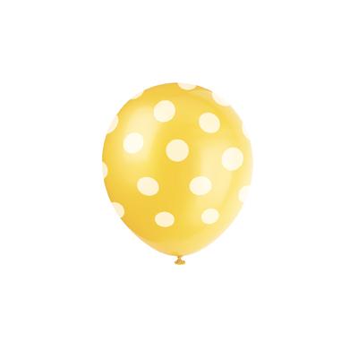 ballon-jaune-pois-blanc