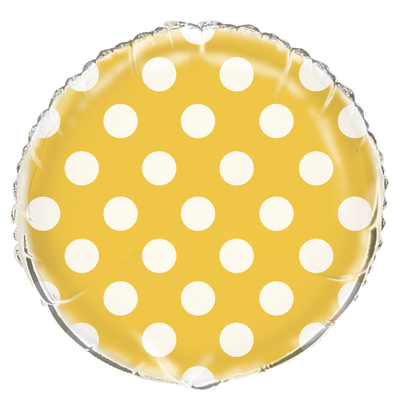 ballon-aluminium-jaune-a-pois