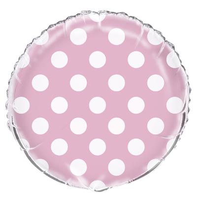 ballon-mylar-rose-clair-a-pois