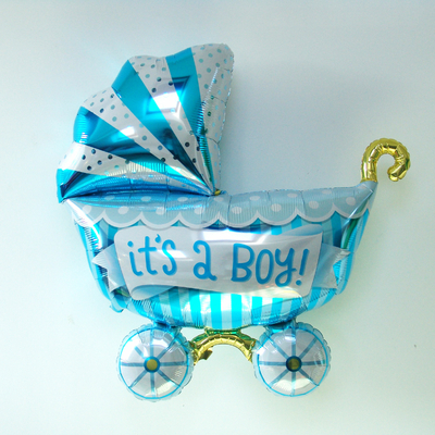 ballon-baby-shower-landeau-bleu