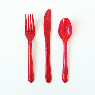 couvert-jetable-plastique-rouge-paillettes