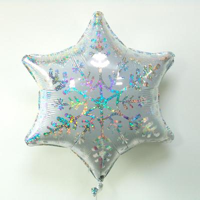 ballon-flocon-de-neige-holographique