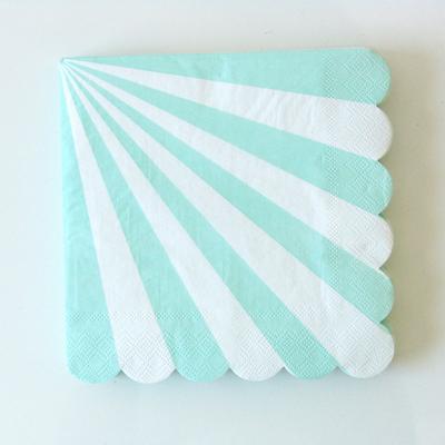 serviette-papier-rayures-aqua-meri-meri