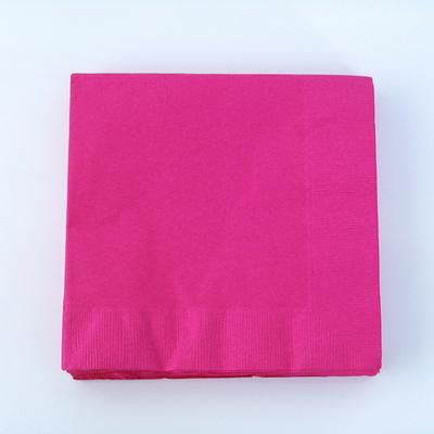 serviette-papier-jetable-rose-fuchsia