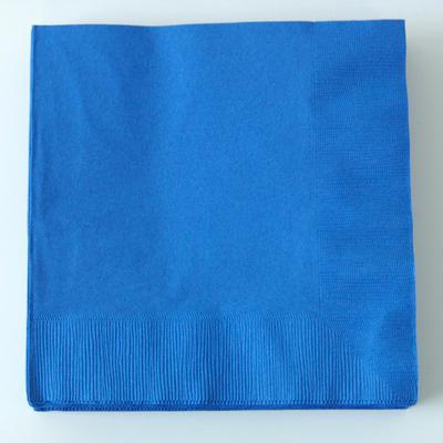 serviette-jetable-en-papier-bleu-fonce